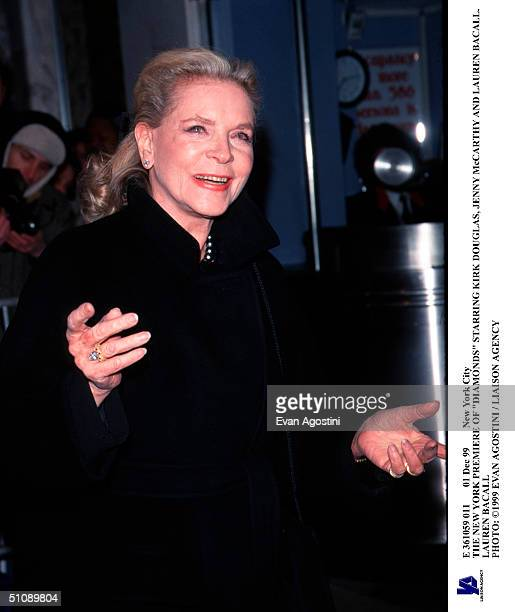 Dec 99 New York City The New York Premiere Of Diamonds Starring Kirk Douglas Jenny Mccarthy And Lauren Bacall Lauren Bacall