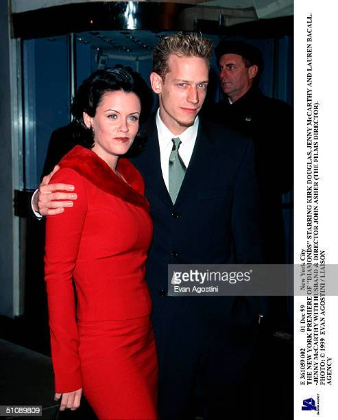 Dec 99 New York City The New York Premiere Of Diamonds Starring Kirk Douglas Jenny Mccarthy And Lauren Bacall Jenny Mccarthy With Husband Director...