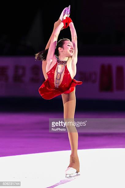 Polina Tsurskaya during the ISU Junior amp Senior Grand Prix of Figure Skating Final Barcelona 2015 for the round Exhibition Program at Barcelona on...