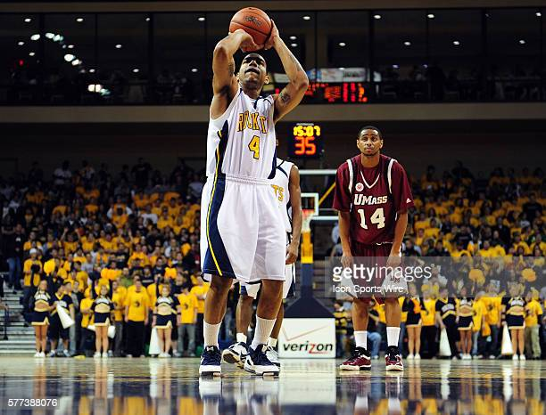 Toledo's Jonathan Amos during a college basketball game against University of Massachusetts at Savage Arena