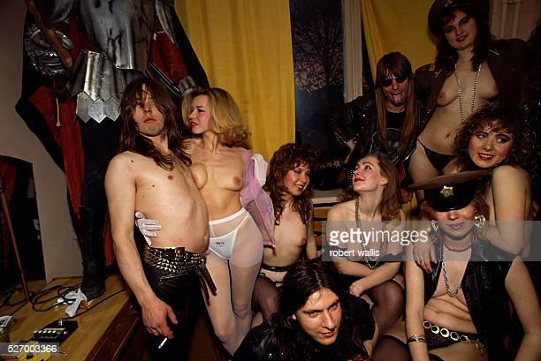 Decadent youth lounging half naked in Moscow