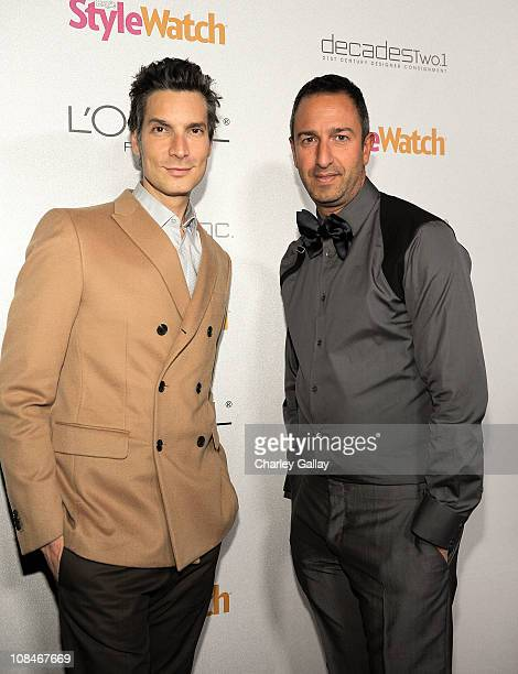 Decades' Cameron Silver and Christos Garkinos arrive to 'A Night Of Red Carpet Style' hosted by People StyleWatch at Decades on January 27, 2011 in...