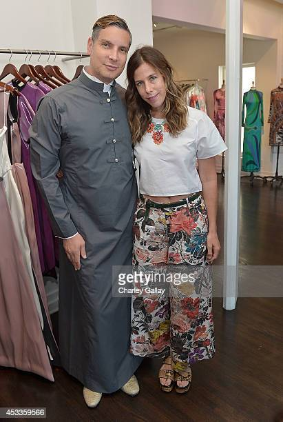 Decades' Cameron Silver and Irene Neuwirth attend Saudi Designer Nora Al Shaikh Unveils Her Coveted Eveningwear Collection At Decades LA at Decades...