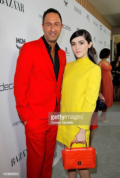 Decades coowner Christos Garkinos and actress Isabelle Fuhrman attend the Dukes Of Melrose launch hosted by Decades Harper's BAZAAR and MCM on...