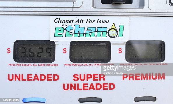 A decal advertising E85 Ethanol is displayed on a gas pump