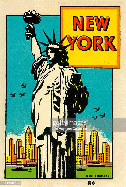 A decal for New York City from 1947 in USA