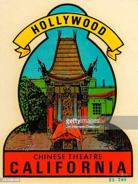 Decal for the Chinese Theatre in Hollywood, California from 1952 in USA.