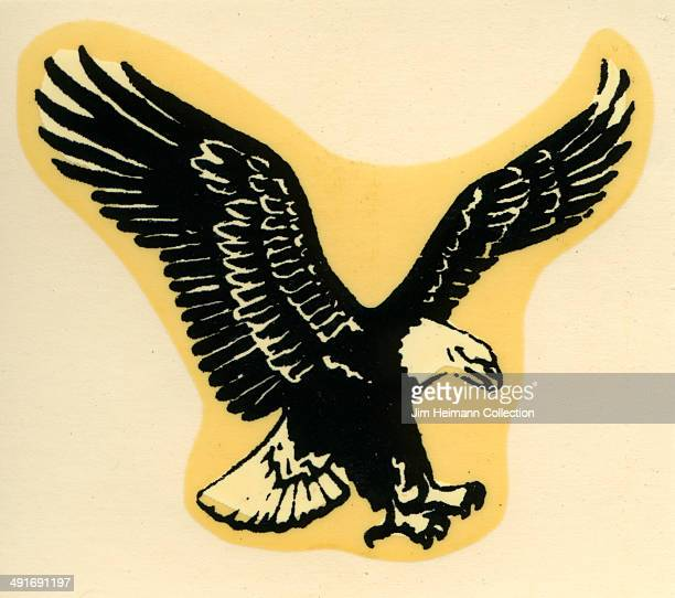 A decal of a Bald Eagle from 1955 in USA