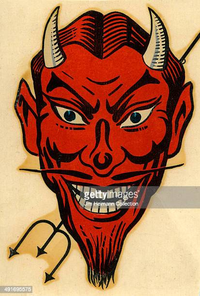A decal of a red demon from 1955 in USA