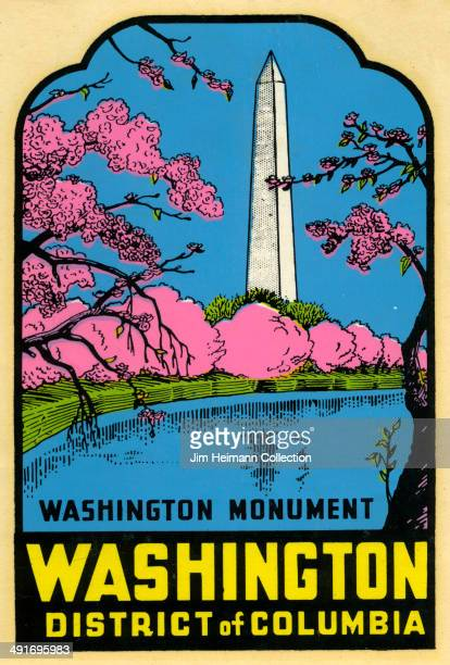 A decal of the Washington Monument reads 'Washington Monument Washington District of Columbia' from 1956 in USA
