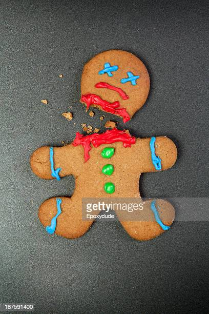 A decapitated gingerbread man
