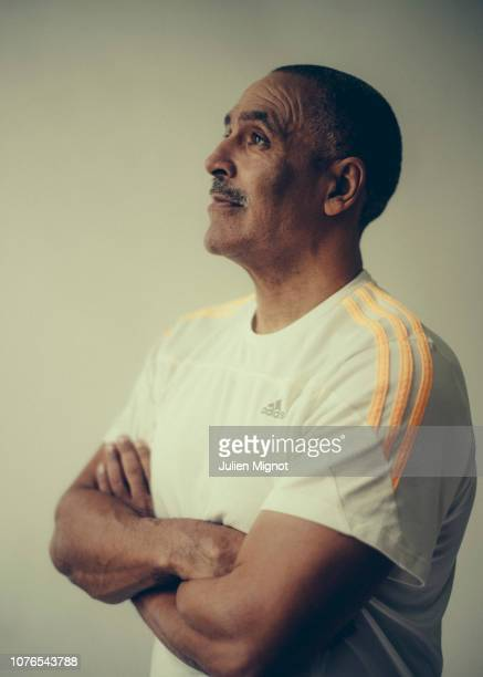 Decathlete Daley Thompson poses for a portrait on February 2018 in Monaco France