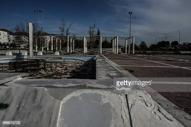 Decay looting and ruins at the former Olympic Village of Olympia 2004 in Athens at the Olympic Village of Thrakomakedones on March 5 2016
