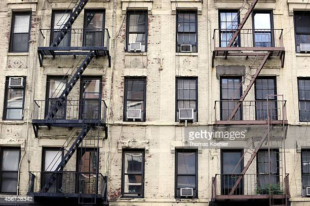 Decayed facade of an apartment building in Manhattan on September 24 in New York City United States Photo by Thomas Koehler/Photothek via Getty Images