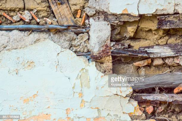Decayed Wall in an Abandoned Farmhouse