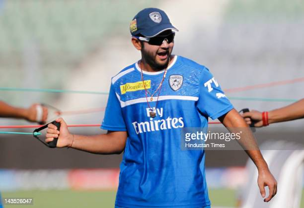 Deccan Chargers player Parthiv Patel during the practice session at Wankhede Stadium on April 28 2012 in Mumbai India