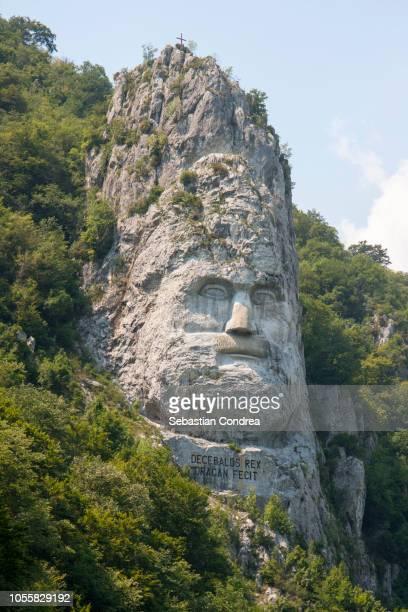 Decebal Head sculpted in rock, History, Dubova, Romania