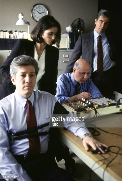 LAW ORDER 'Deceit' Episode 17 Aired Pictured Peter Riegert as Jerold Dixon Jill Hennessy as ADA Claire Kincaid Polygraph Tester Sam Waterston as...