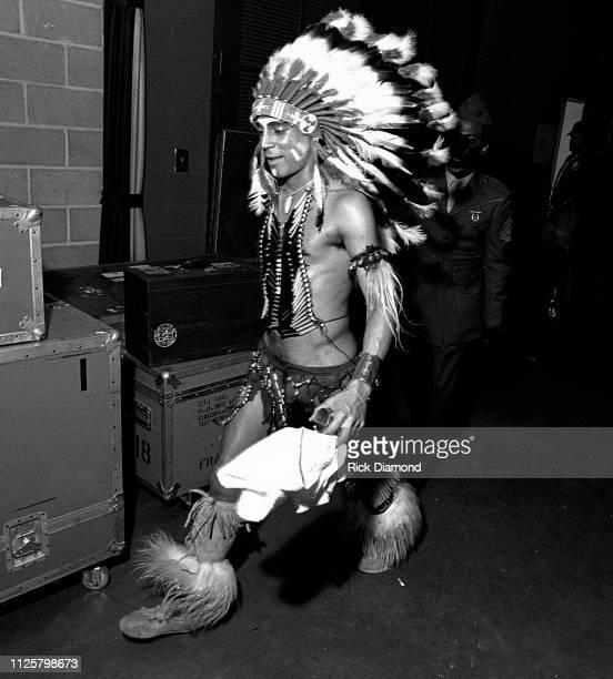 Felipe Rose of the Village People backstage during Z93 Annual Toys For Tots concert at The OMNI Coliseum in Atlanta Georgia December 02 1979