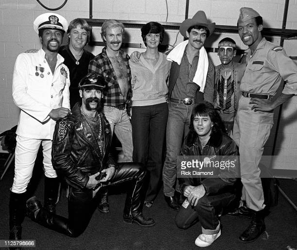 Village People backstage during Z93 Annual Toys For Tots concert at The OMNI Coliseum in Atlanta Georgia December 02 1979