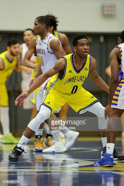 Northern Arizona Lumberjacks guard Torry Johnson during the game between Northern Arizona at Cal State Bakersfield at Icardo Center in Bakersfield CA