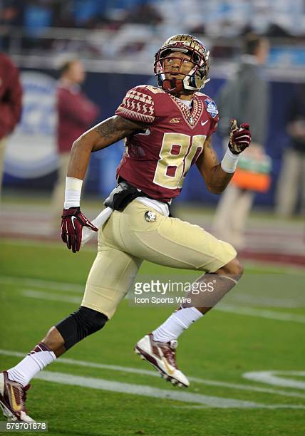 Florida State Seminoles wide receiver Rashad Greene warms up before the ACC Championship game at Bank of America in CharlotteNC