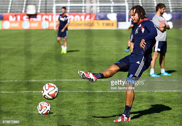 New England Revolution midfielder Jermaine Jones during a MLS Cup final practice session at Stubhub Center, in Carson, California.