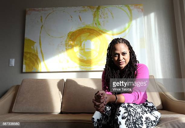 TORONTO ON DECEMBER 10 December 10 2014 Ava Duvernay director of SELMA biopic of Martin Luther King Jr pose for pictures at the Ritz Hotel in Toronto