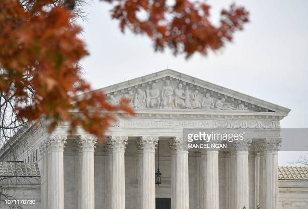 A December 10 2018 photo shows the US Supreme Court in Washington DC The US Supreme Court declined to hear appeal cases by Kansas and Louisiana to...
