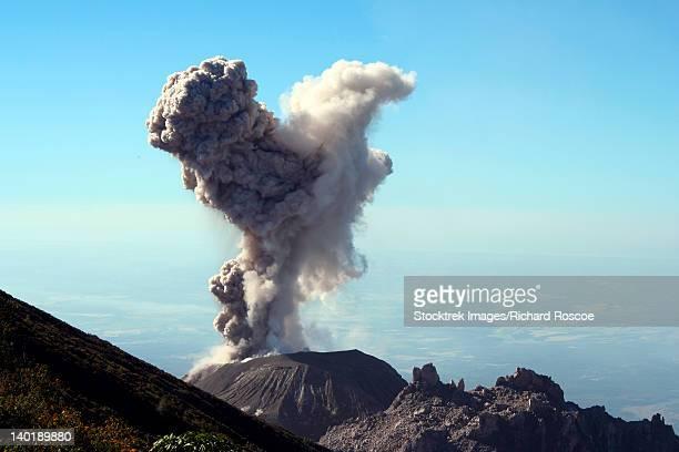 December 12, 2005 - Eruption of ash cloud from Santiaguito dome complex, Santa Maria volcano, Guatemala.