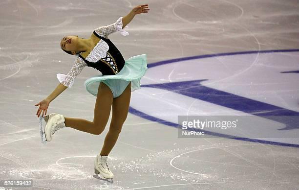 Mai Mihara during the ISU Gran Prix of figure skating final ice ladies junior free program in Barcelona on december 12 2015 Photo Joan...