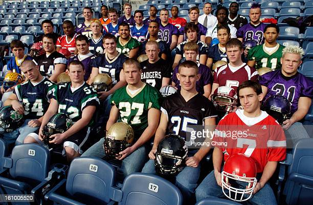 CO December 13 2005 The Denver Post 2005 AllColorado football team in the north stands at Invesco Field at Mile High Stadium front row left to right...