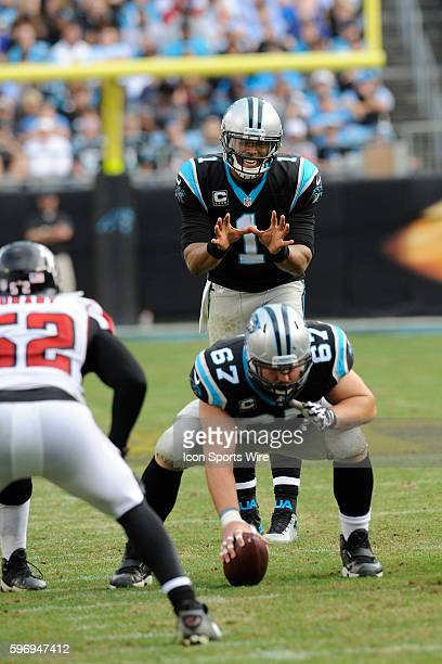 December 13   Sunday: Cam Newton QB Carolina Panthers calls for a snap in the NFL NFC South game against the Atlanta Falcons at Bank of America...