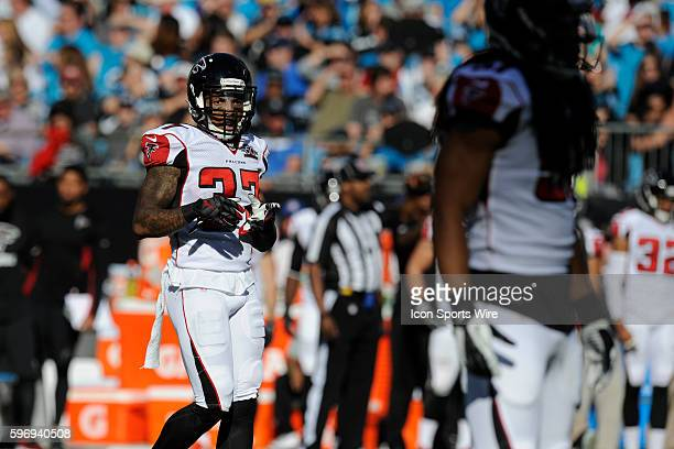 December 13   Sunday: Ricardo Allen S Atlanta Falcons waits for the snap against the Carolina Panthers in the NFL NFC South game at Bank of America...