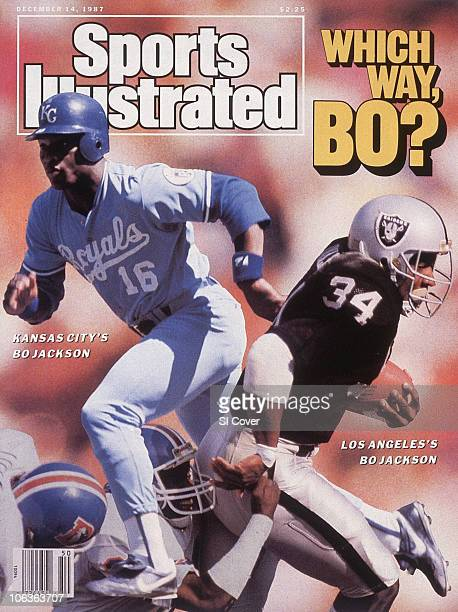 December 14 1987 Sports Illustrated Cover Baseball Kansas City Royals Bo Jackson in action running bases vs Detroit Tigers at Detroit MI 4/25/1987...