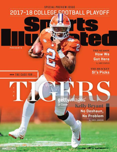 December 14 2017 Sports Illustrated via Getty Images Presents Cover Clemson QB Kelly Bryant in action rushing vs Kent State at Memorial Stadium...