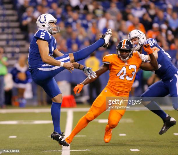 Indianapolis Colts punter Rigoberto Sanchez during an NFL football game between the Denver Broncos and the Indianapolis Colts on December 14 at Lucas...