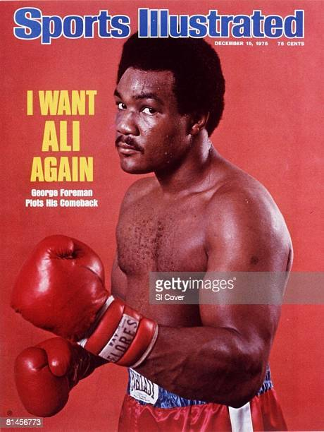 December 15 1975 Sports Illustrated Cover Heavyweight Boxing Closeup portrait of George Foreman at home Livermore CA