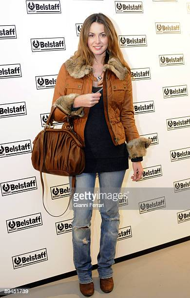 December 15 2008 Madrid Spain Opening of the store Belstaff In the picture Arancha Del Sol tv hostess