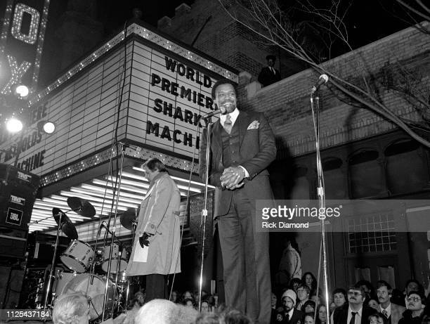 Cast member Bernie Casey attends Sharky's Machine World Premiere starring Burt Reynolds at The Fabulous Fox Theater in Atlanta Ga December 011981