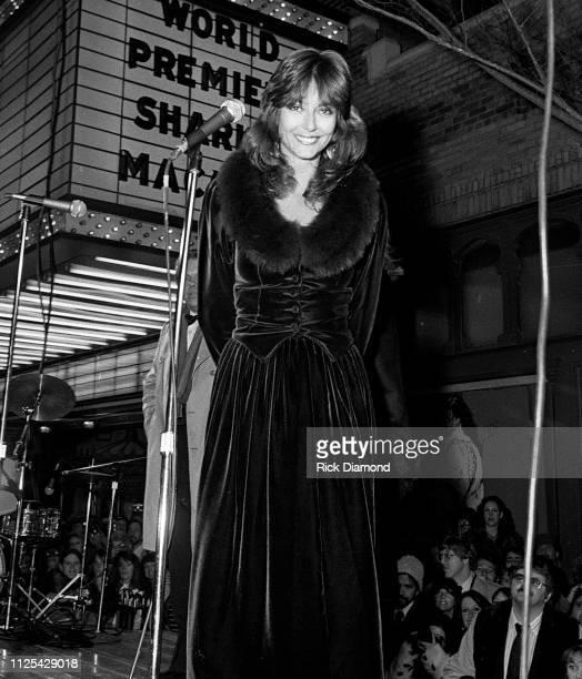 Cast member Rachel Ward attends Sharky's Machine World Premiere starring Burt Reynolds at The Fabulous Fox Theater in Atlanta Ga December 011981