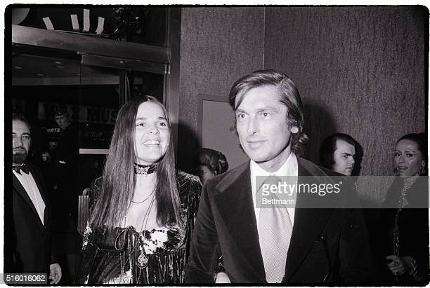 Actress Ali MacGraw and Husband Bob Evans studio head They are both shown at the movie premier of Love Story