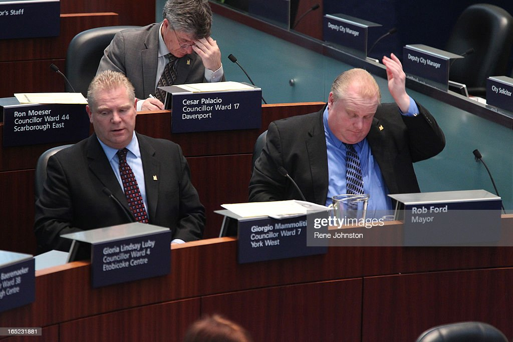 December 16 2010. Mayor Rob Ford's first council meeting as Mayor brought a good dose of politics by : News Photo