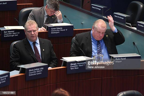 December 16 2010 Mayor Rob Ford's first council meeting as Mayor brought a good dose of politics by the left side of council Rob and Doug Ford show...