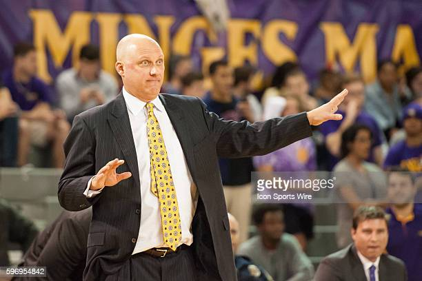 East Carolina head coach Jeff Lebo in a game between the East Carolina Pirates and the UNC Wilmington Seahawks at Williams Arena Minges Coliseum in...