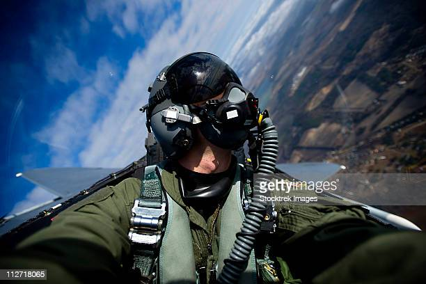 december 17, 2010 -u.s. air force pilot documents an f-15e strike eagle aircraft during a training mission over north carolina. - us air force stock pictures, royalty-free photos & images