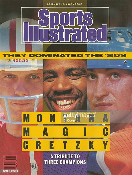 December 18 1989 Sports Illustrated Cover Closeup of San Francisco 49ers QB Joe Montana during game vs Chicago Bears at San Francisco CA on photo by...
