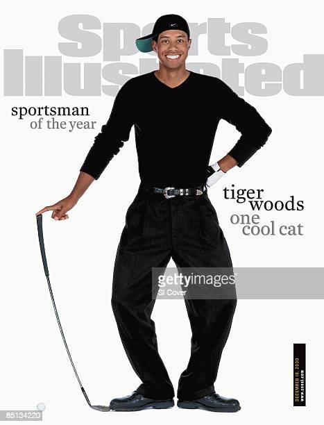 December 18 2000 Sports Illustrated Cover Golf Sportsman of the Year Unusual casual portrait of Tiger Woods posing like Charlie Chaplin Kauai HI...