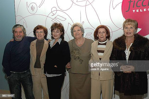 December 18 2006 Madrid Spain Presentation of the new serie by Telecinco 'La que se avecina' In the imagen the actors Ricardo Arroyo Beatriz Carvajal...