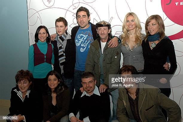 December 18 2006 Madrid Spain Presentation of the new serie by Telecinco 'La que se avecina' In the image the actors Malena Alterio Elio Gonzalez...